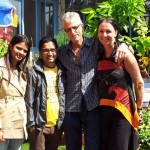 Dr. Bikhas mit Ehefrau Sisir, freudiges Wiedersehen