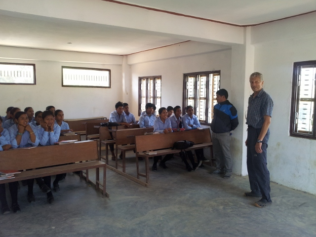 Im Klassenzimmer der älteren Schüler