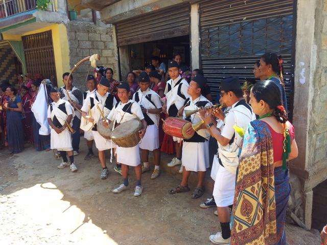 Typische Dorfband- spielt auch bei Hochzeiten