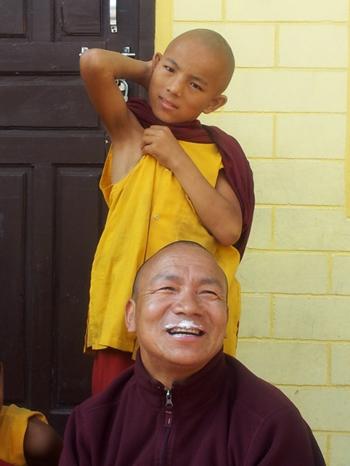 Kembola, der Gründer der Klosterschule in Mustang und Pokhara/Bakhunde