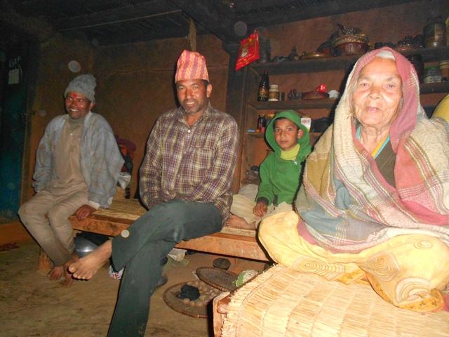 Abschied von der Familie in Ramechap