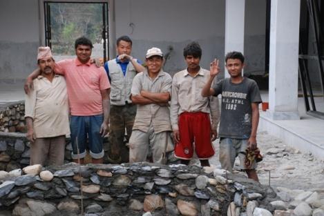 Unsere Maurerarbeiter