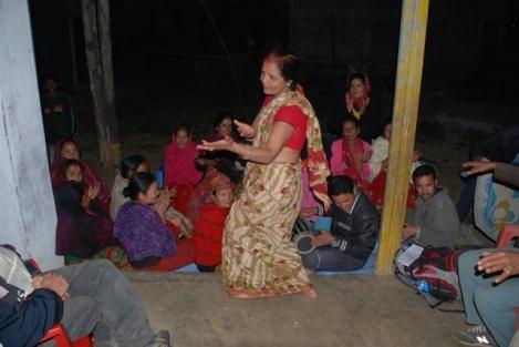 Nepalesischer Tanz