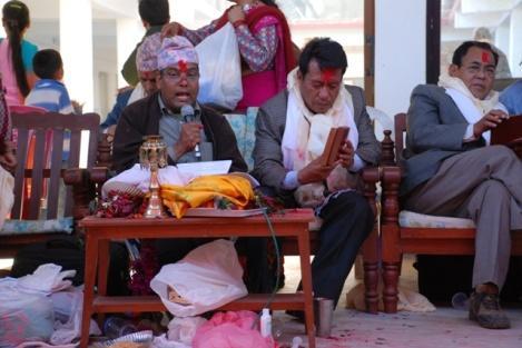 Politiker aus Kathmandu: Jaganath Subadi, Kiran Gurung, Surash Ale