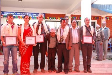 Max, ich, Herbert,Mr. Jaganath Subadi, Mr. Kiran Gurung, Mr. Surash Ale, Erwin
