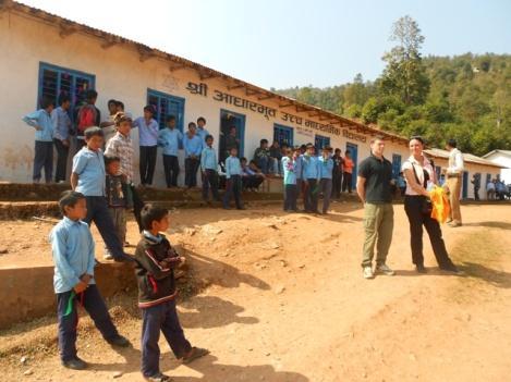 Schulhof in Sankkhe
