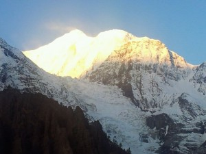 Manang aufgehende Sonne am Annapurna