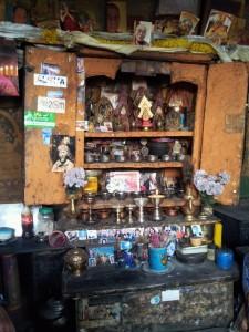 Altar in der Gompa