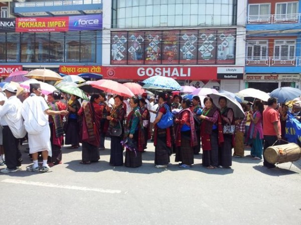 Streik in Pokhara