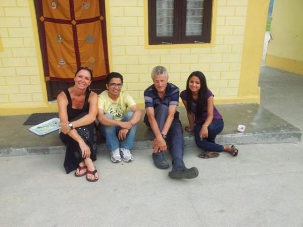 Teamwork: ich, Bikash, Herbert und Laxmi