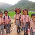 Dorfschüler in Sankke