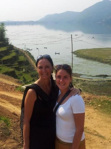 Unsere Lilly und ich, Aussicht auf den Fewa Lake
