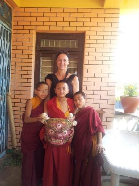Typische tibetanische Mönchsmasken