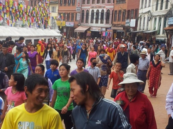 ... auf dem Weg zu den Sehenswürdigkeiten in  Kathmandu ...