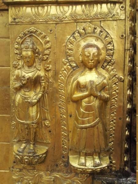 """... """"Heilige"""" ... wunderschön in Gold verziert ..."""